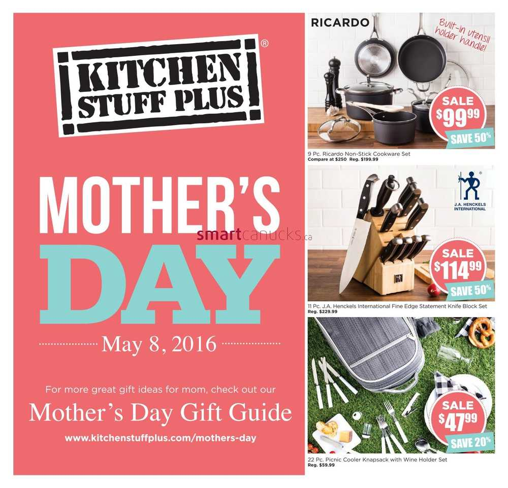 Kitchen Stuff Plus Mother's Day Gift Guide April 29 to May 8