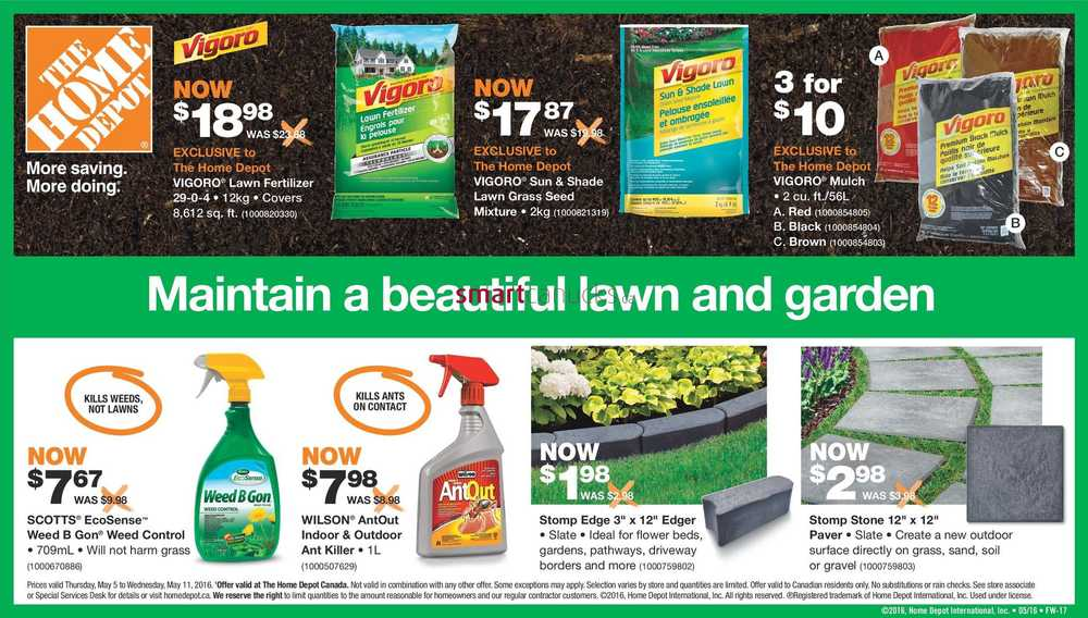 Home Depot On Flyer May 5 To 11