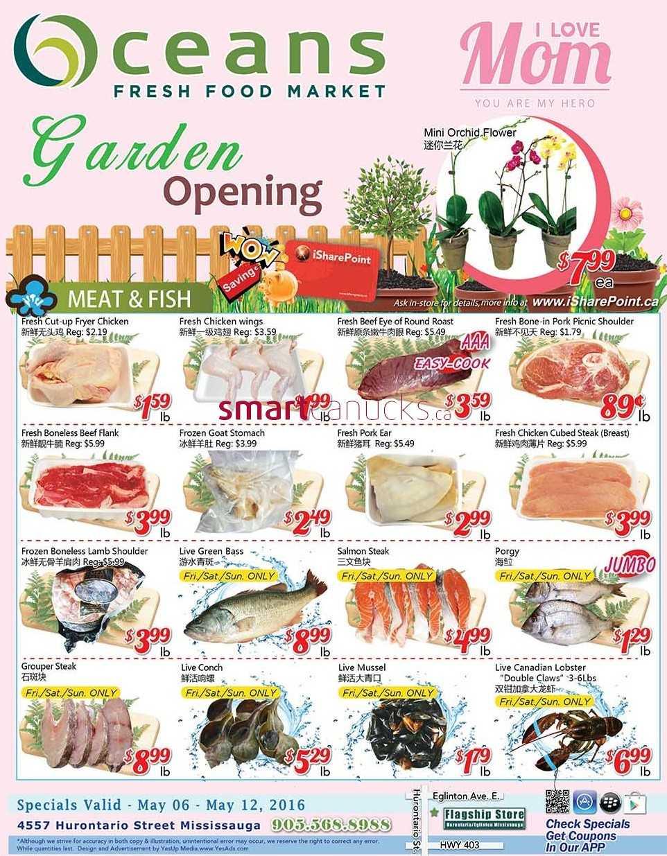 Oceans Fresh Food Market Mississauga Flyer