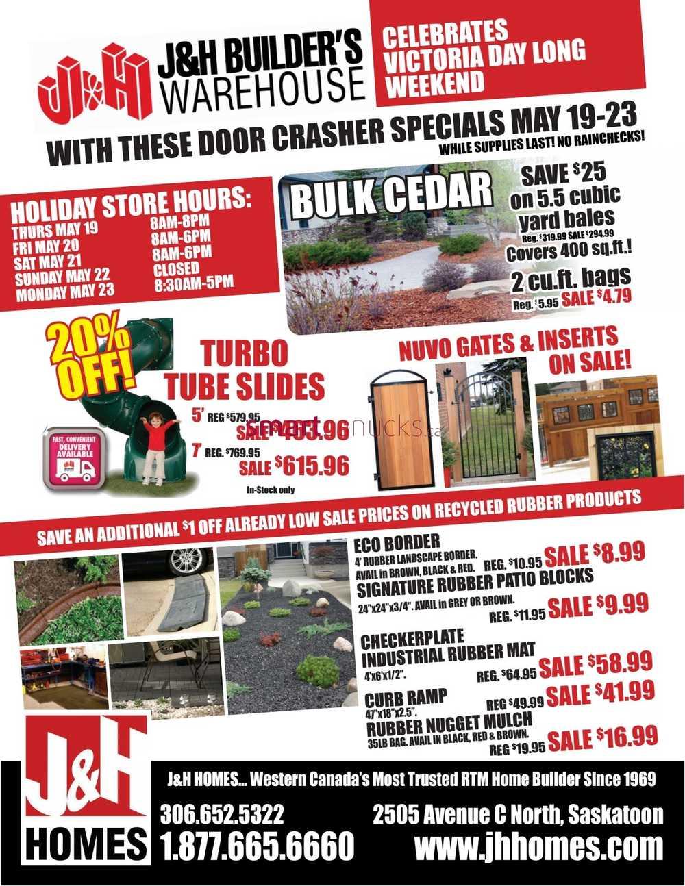 Builders warehouse sales flyer