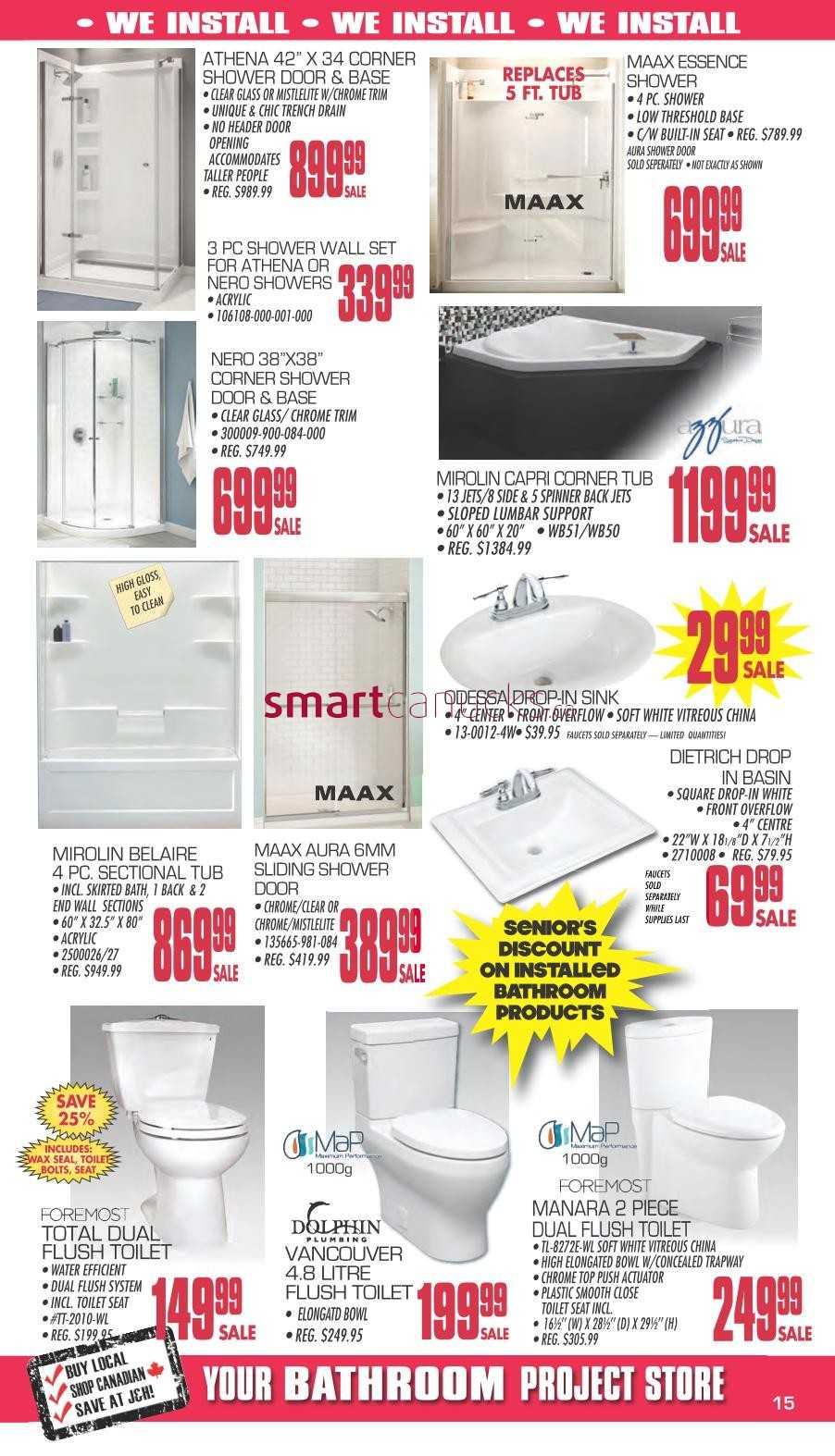 J h builder 39 s warehouse flyer may 24 to june 4 for Bathroom heaters builders warehouse