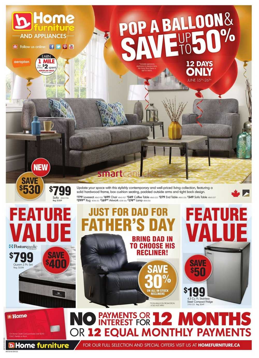 Home furniture atlantic flyer june 15 to 26 for P s furniture flyer