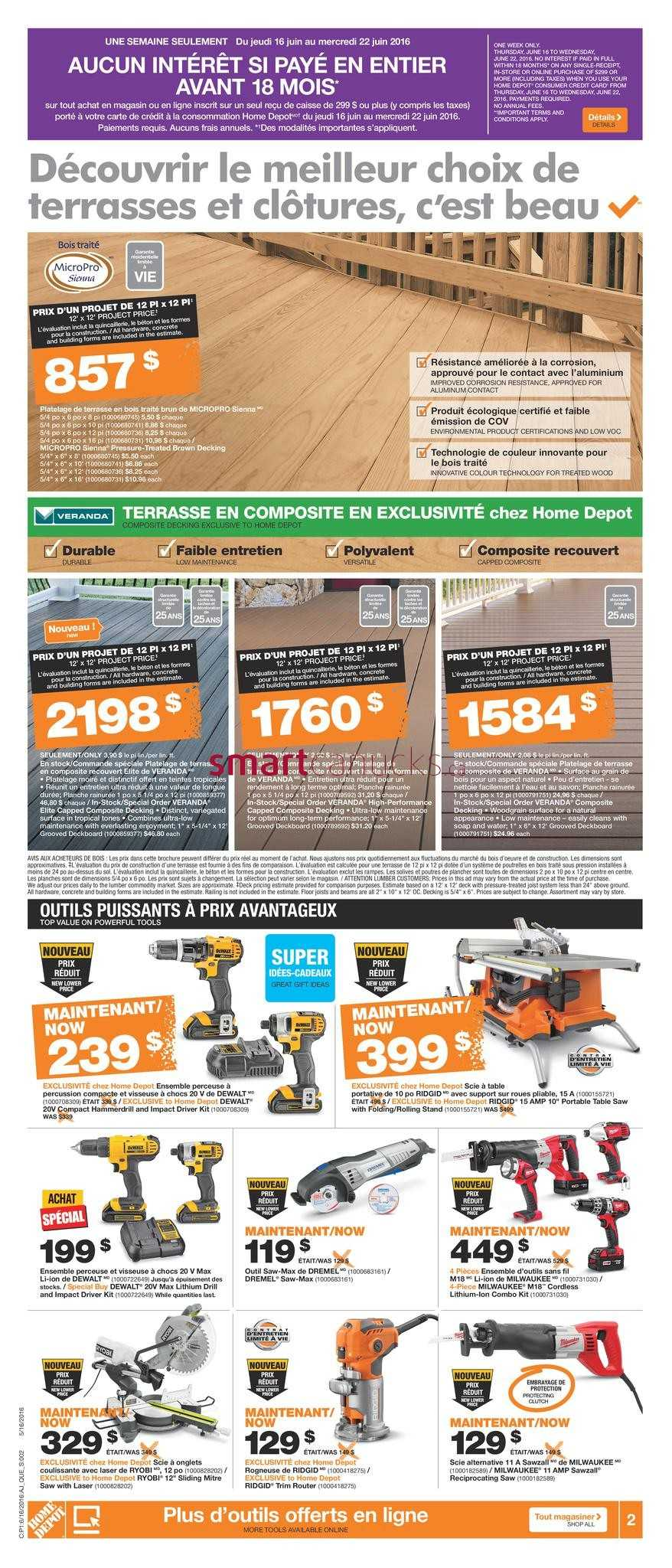 Home Depot (QC) Flyer June 16 to 22