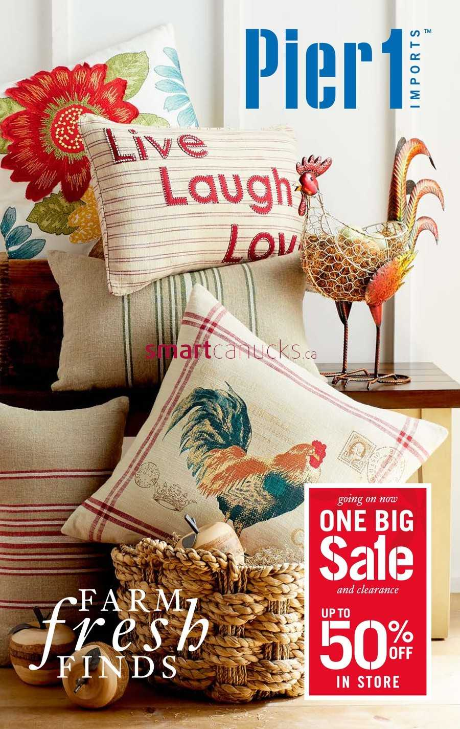Pier 1 Imports Flyer June 24 to July 31. Pier 1 Imports Canada Flyers
