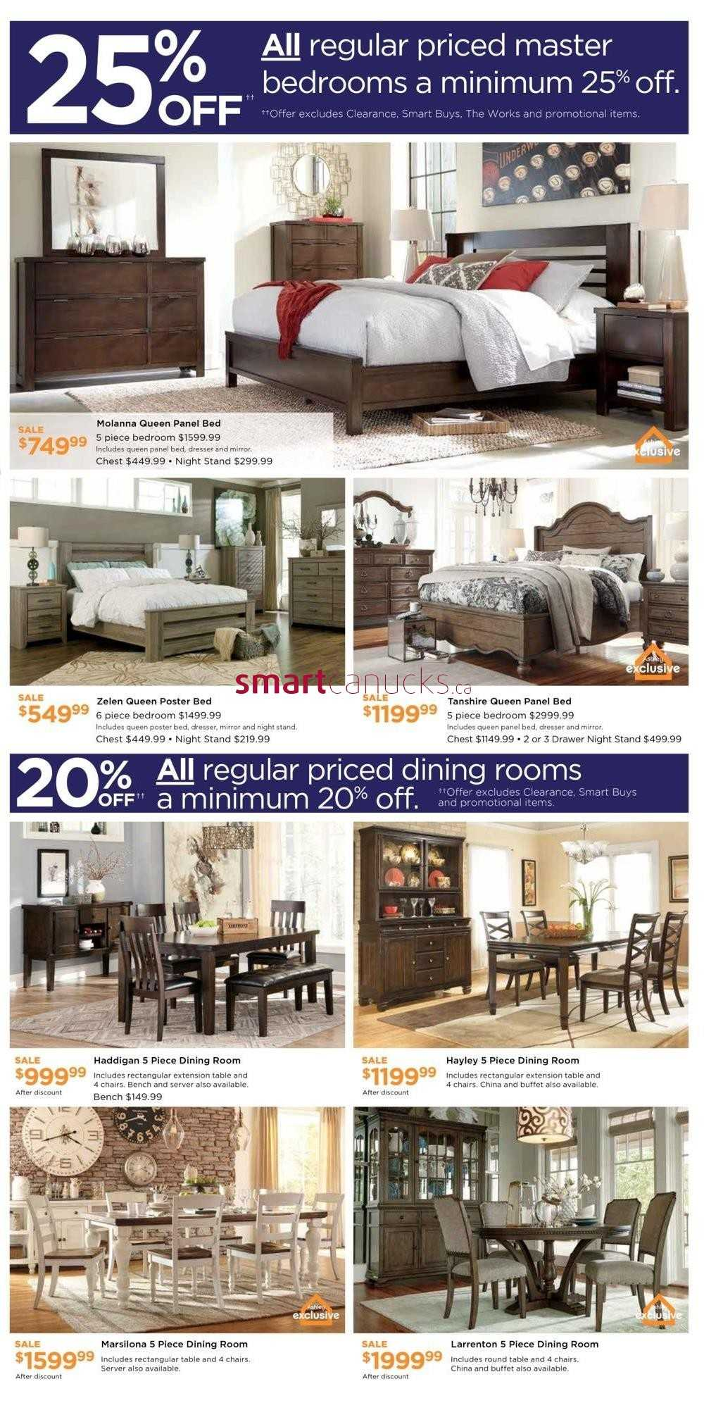 Ashley furniture homestore on flyer june 22 to 26 for Ashley furniture homestore canada