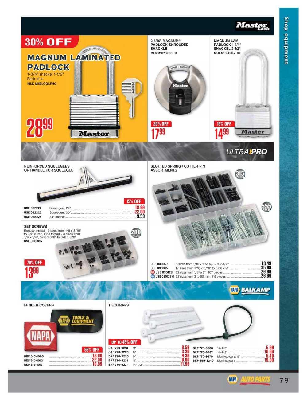 NAPA Auto Parts Real Deals Catalogue July 1 to September 30