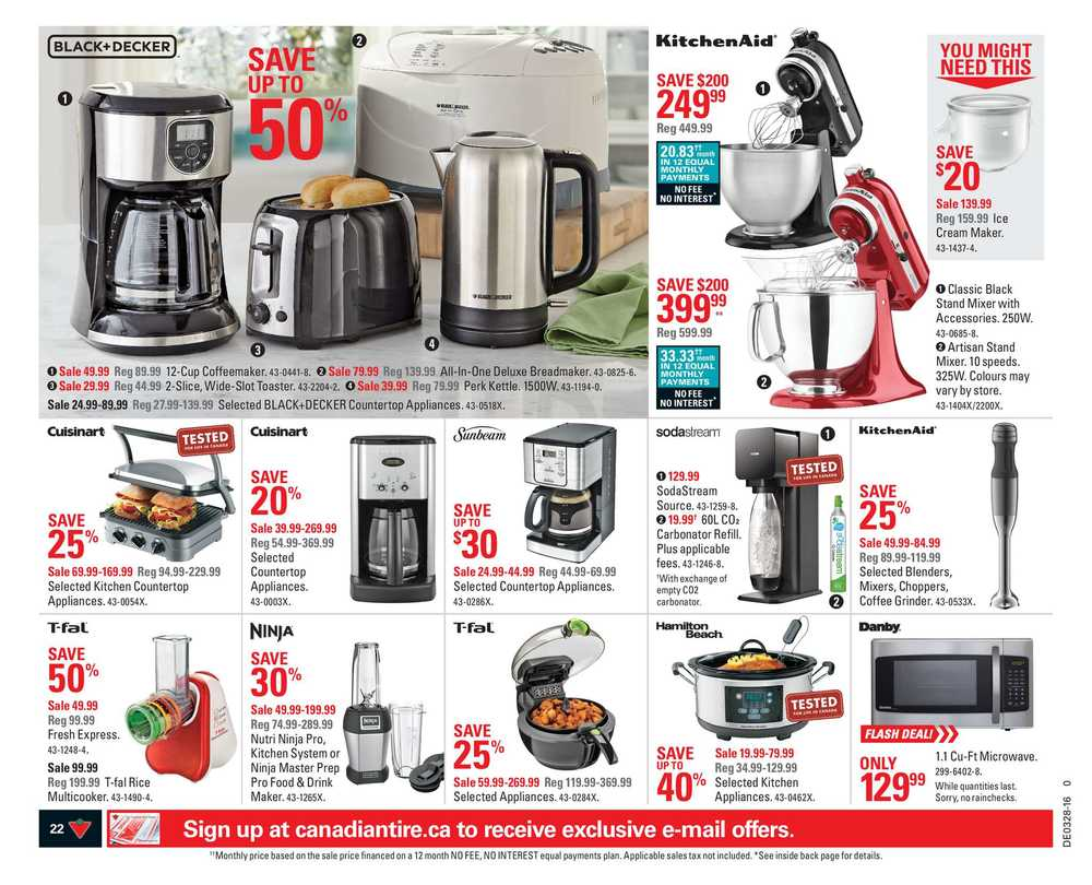 Uncategorized Canadian Tire Small Kitchen Appliances canadian tire atlantic flyer july 8 to 14