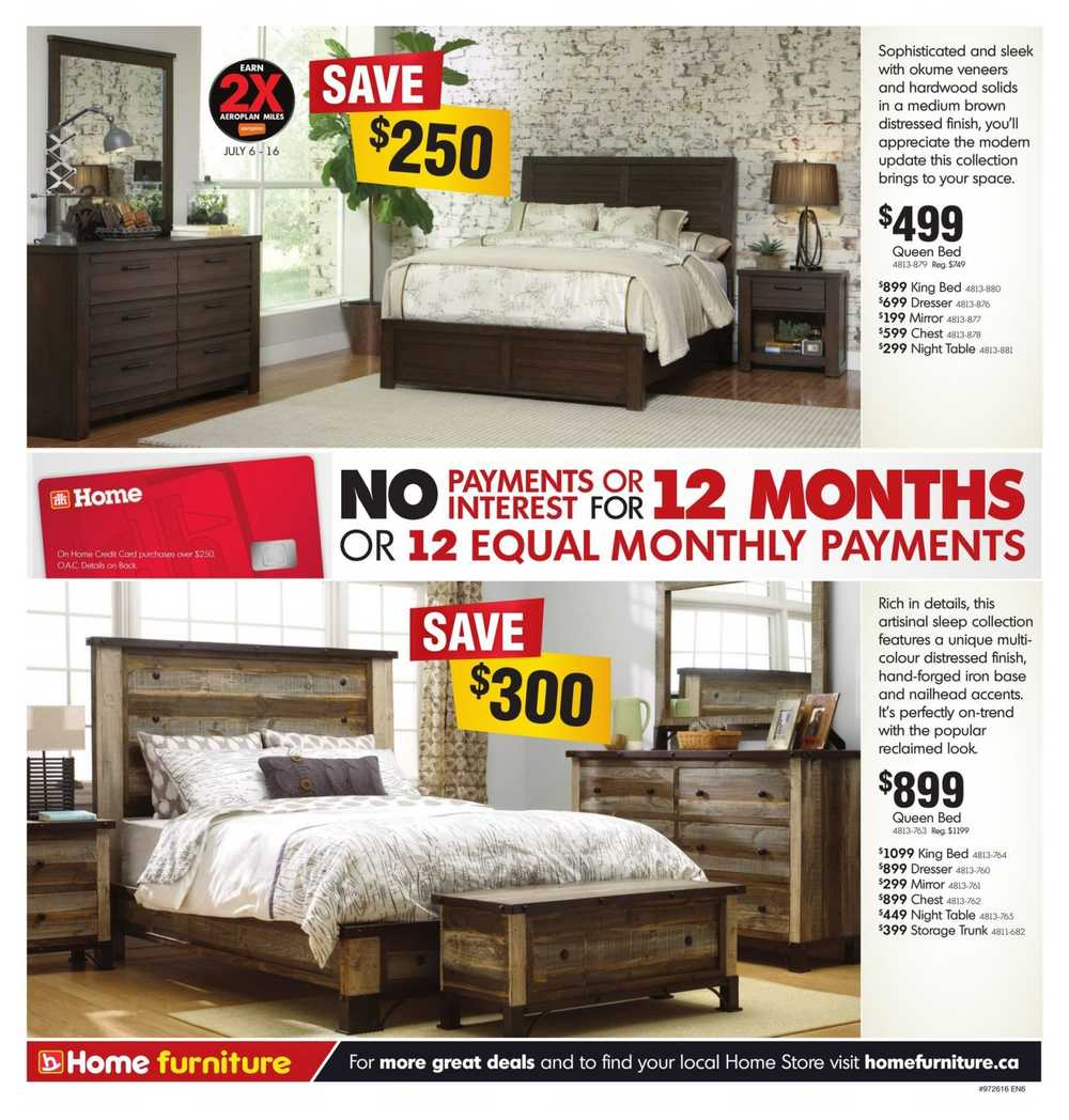Home furniture on flyer july 6 to 17 for Home furniture fair 17