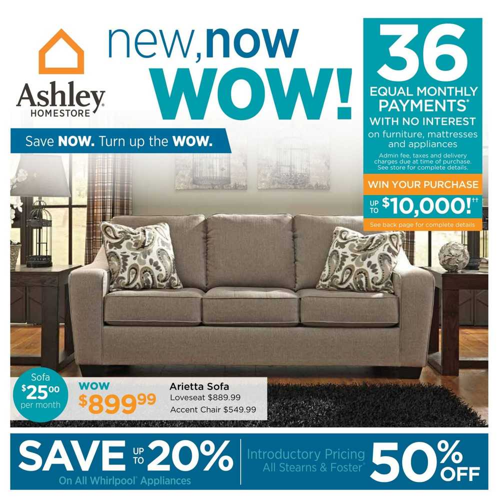 Ashley furniture homestore west flyer july 7 to 24 for Ashley furniture homestore canada