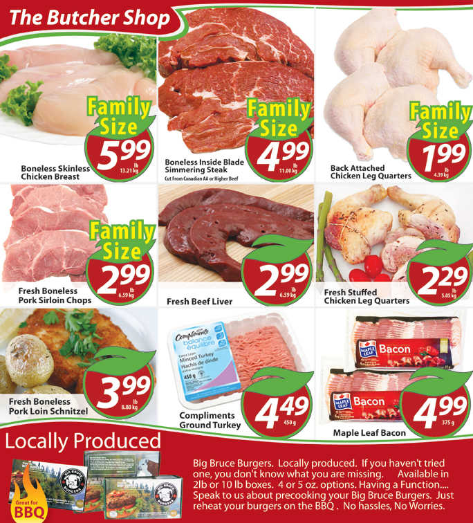 grocer on flyer july 8 to 14:  chesley grocery store flyer july  to