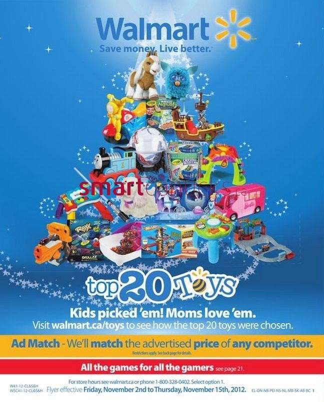 Walmart Toy Catalogue valid from Nov 2 to 15
