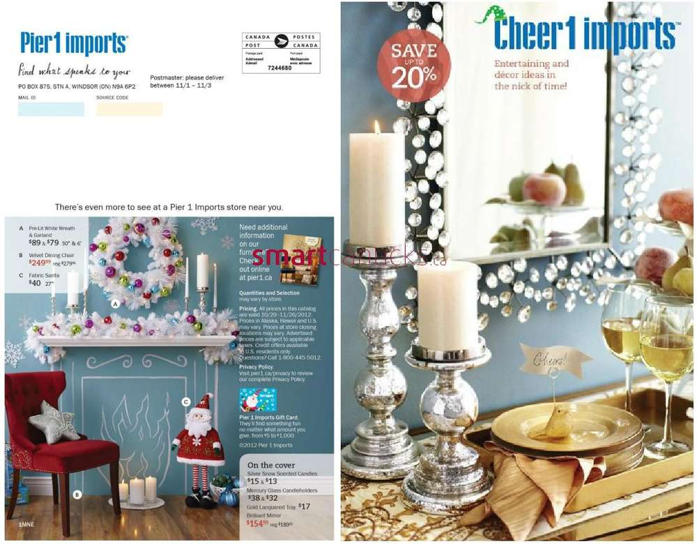 Pier 1 Imports Mailer Oct 29 to Nov 26. Pier One Locations Canada
