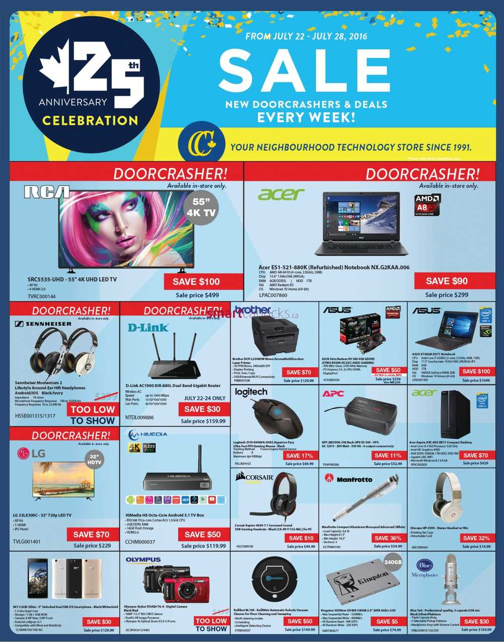 Canada computers th anniversary sale flyer july to