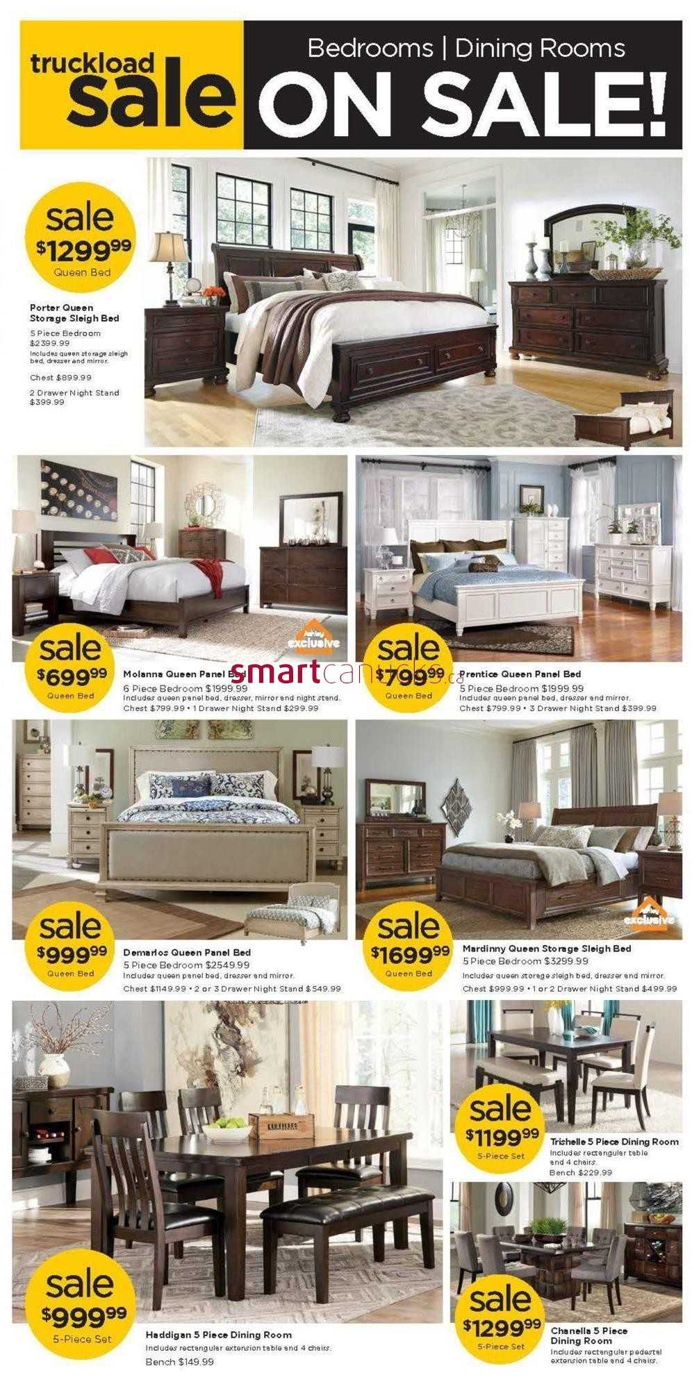Ashley furniture homestore on flyer july 28 to august 14 for Ashley furniture homestore canada