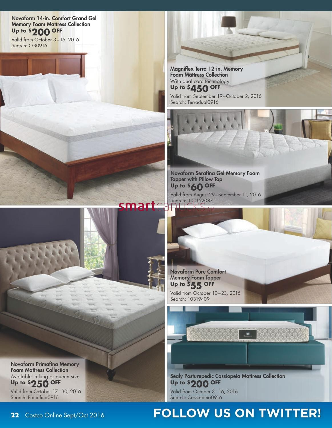 costco online catalogue september 1 to october 31 - Costco Mattress Topper