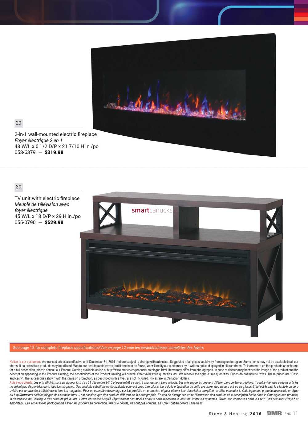 Bmr Stove Heating Catalog 2016 # Meuble Tele Foyer Electrique