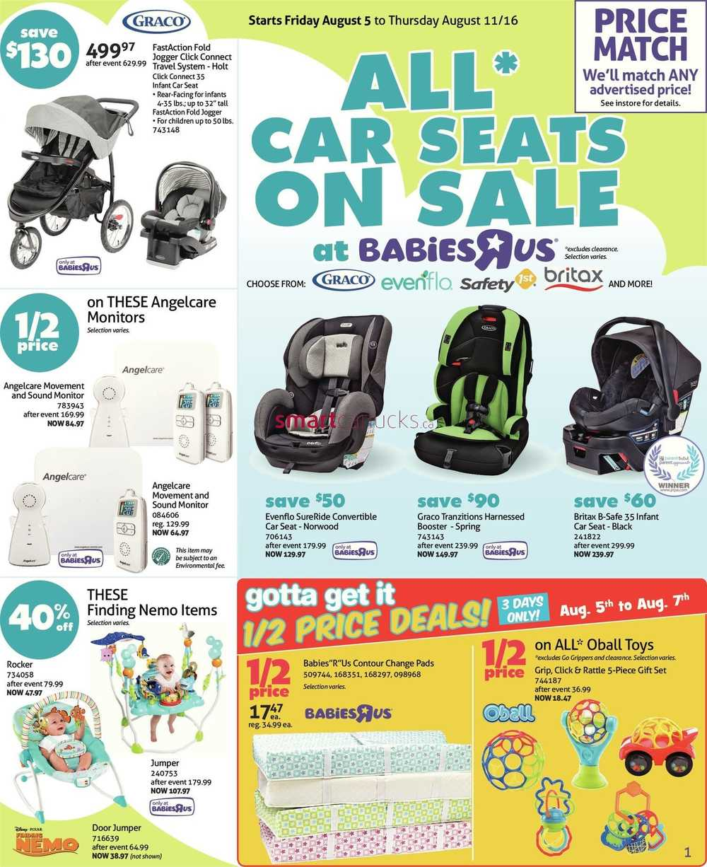 Babies R Us Canada Flyer August 5 to 11