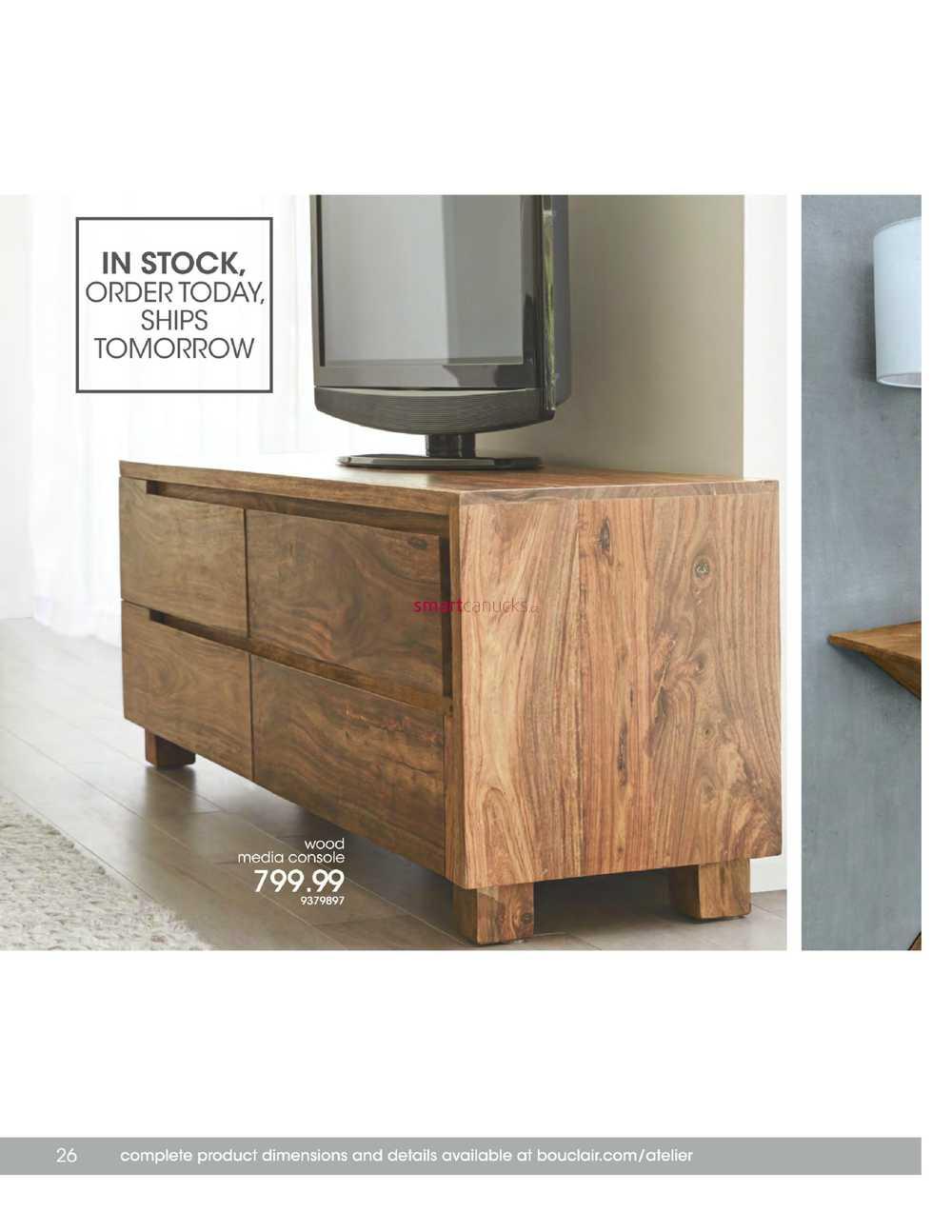 Bouclair Atelier Furniture Catalogue 2016