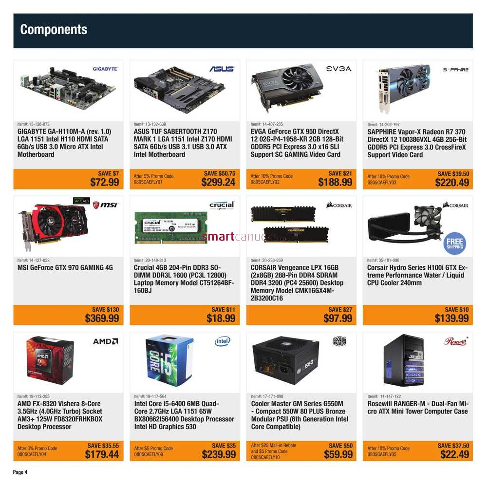 Newegg Flyer August 5 to 11