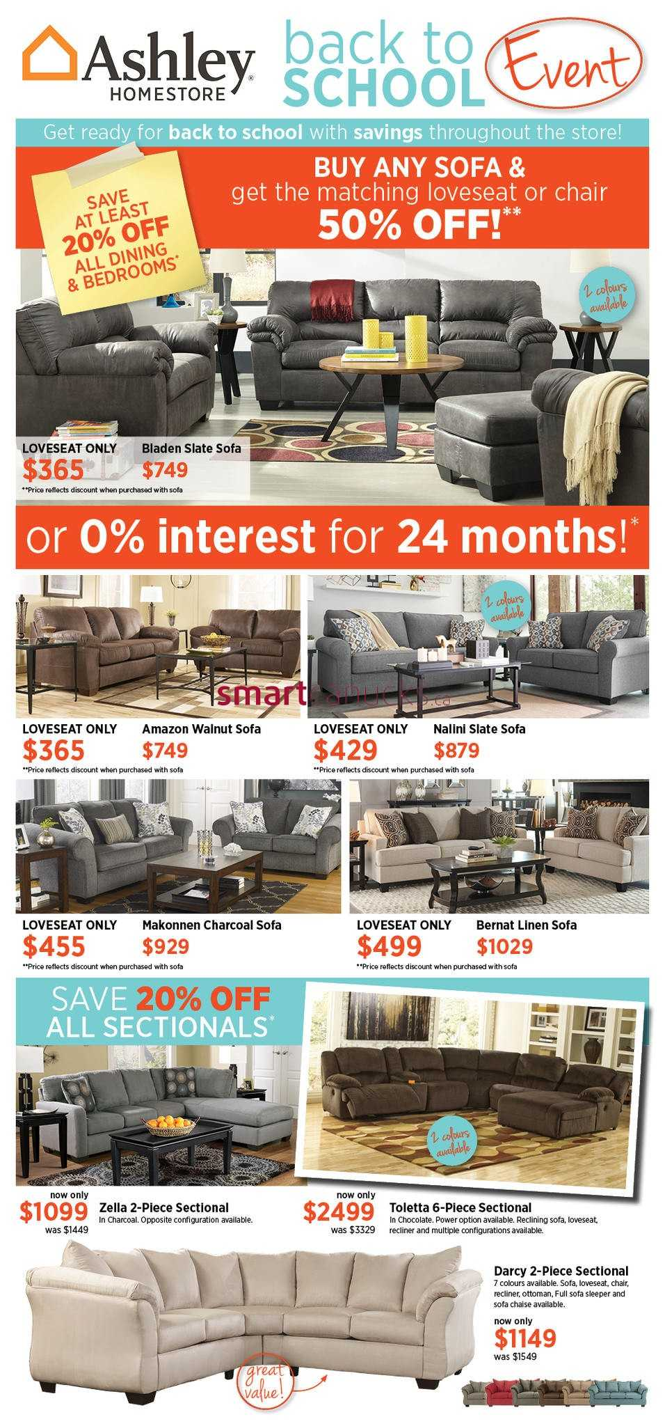 Ashley furniture homestore atlantic flyer august 9 to 29 for Ashley furniture homestore canada