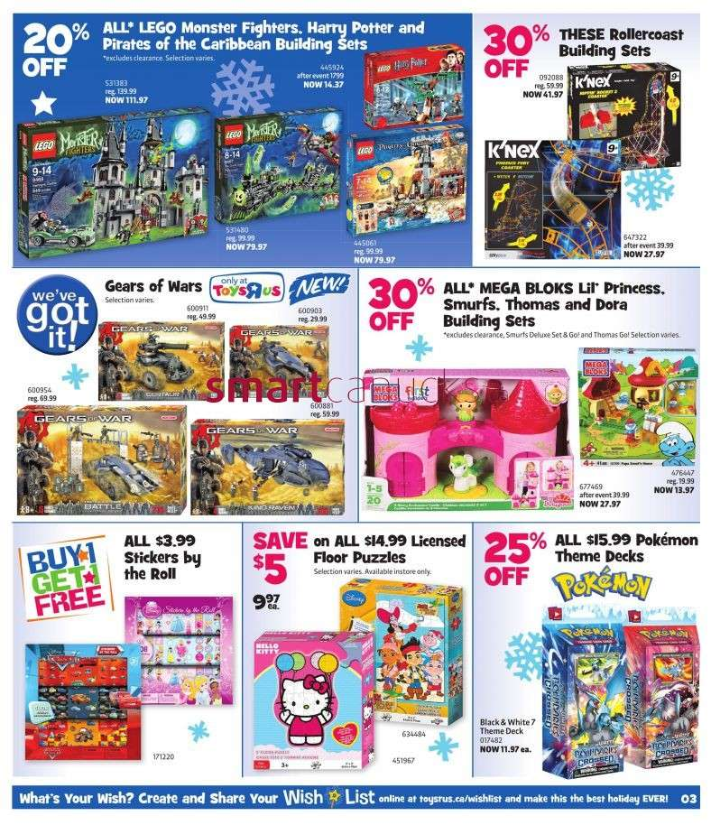 Toys R Us Flyer : Flyer toys r us nov to canada flyers coupons deals