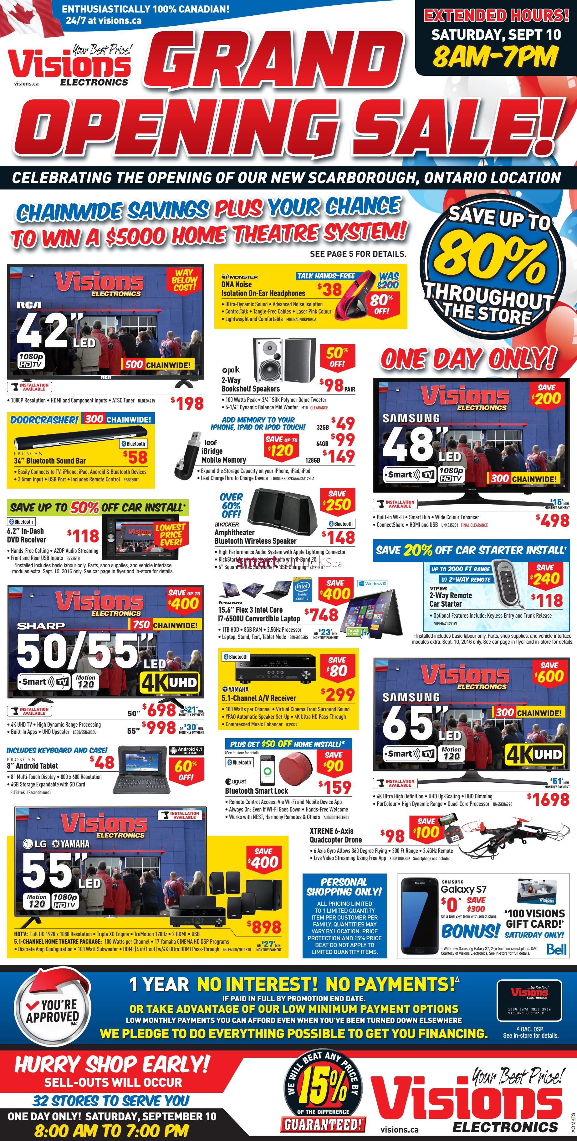 visions electronics grand opening sale flyer september 10