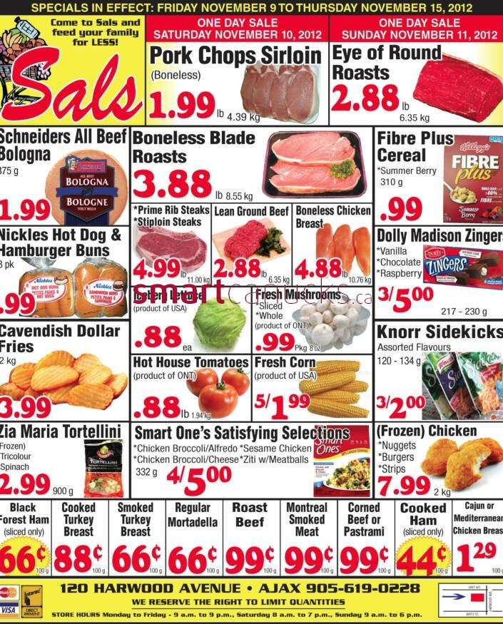 Sal's Grocery flyer Nov 9 to 15