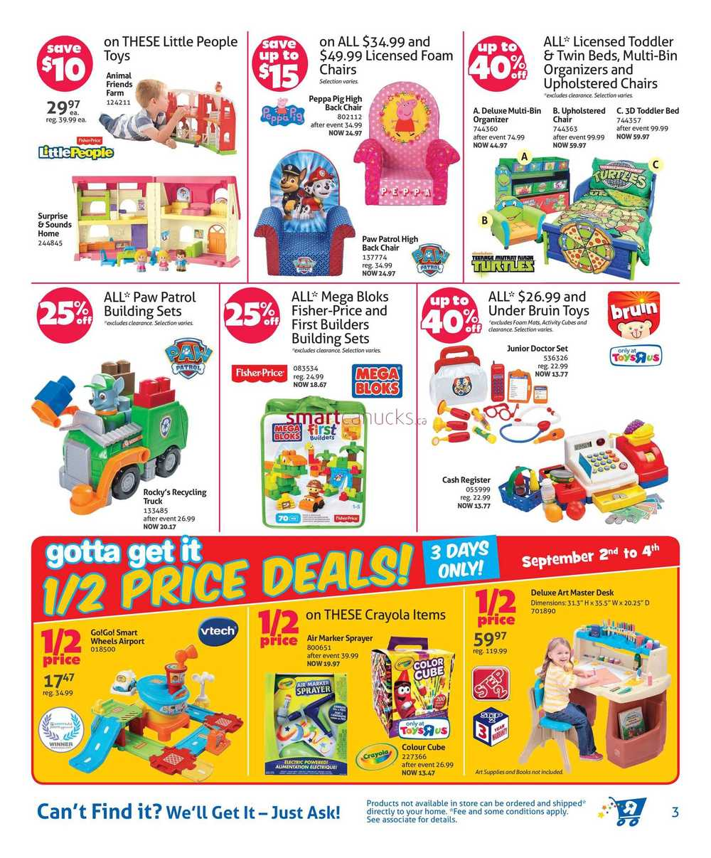 Toys R Us Canada Flyer September 2 To 11