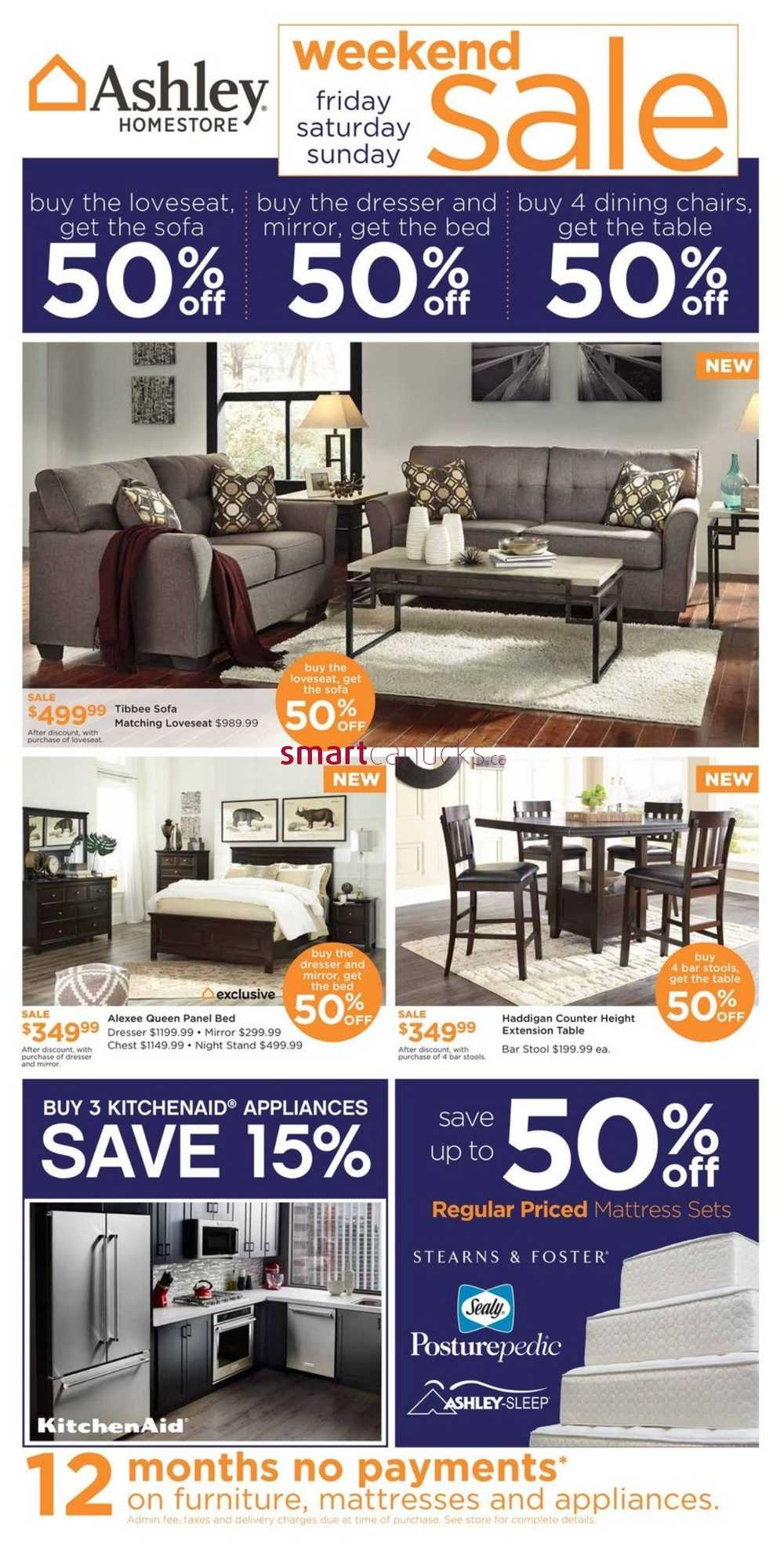 Ashley furniture homestore west flyer september 1 to 7 for Ashley furniture homestore canada