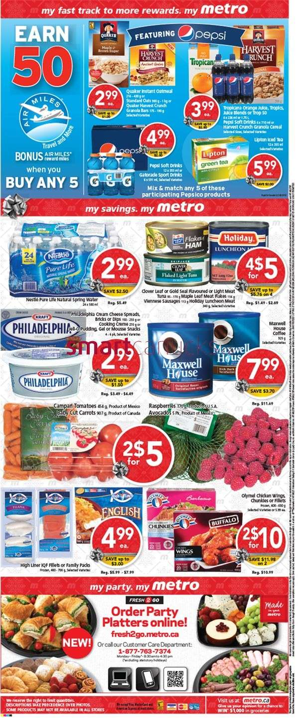 metro ontario 100 airmiles when you spend 100 tomorrow only offer their 50 airmiles when you buy 5 selected pepsi or quaker products