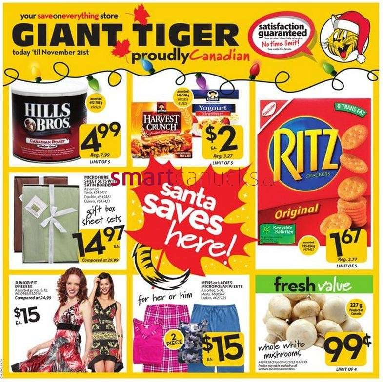 Flyer Giant Tiger flyer Nov 14 to 21 Canada Flyers Coupons Deals