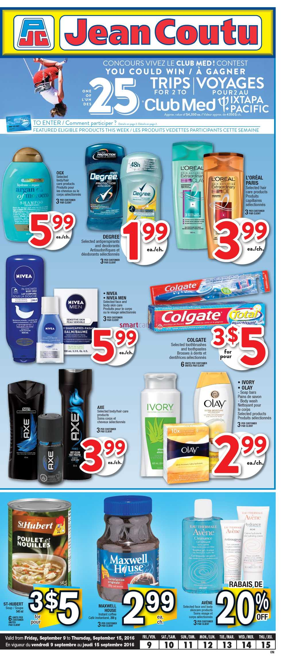 Jean Coutu (ON) Flyer September 9 to 15