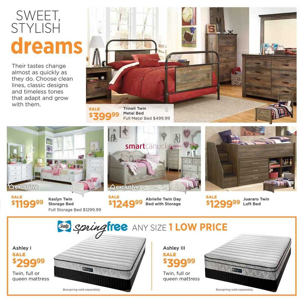 Ashley furniture homestore on flyer september 8 to 24 for Home shop 24