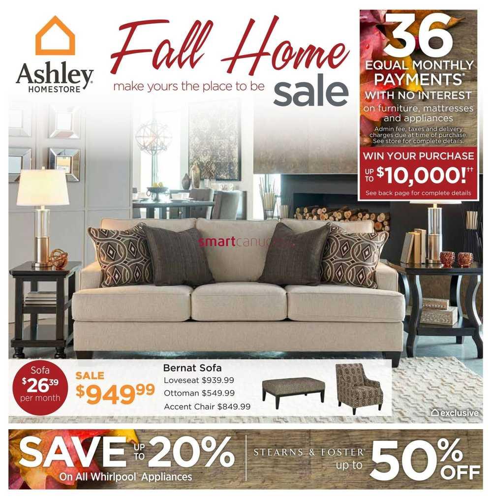 Ashley Furniture Sales Ads: Ashley Furniture HomeStore (West) Flyer September 8 To 24