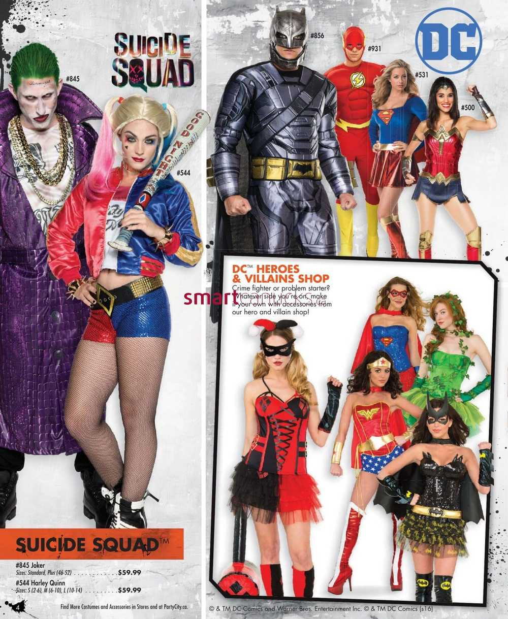 Party City Halloween 2016 Flyer September 8 to October 31