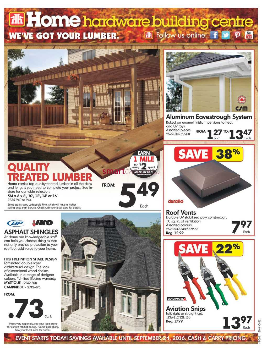 Home Hardware Building Centre On Flyer September 14 To 24