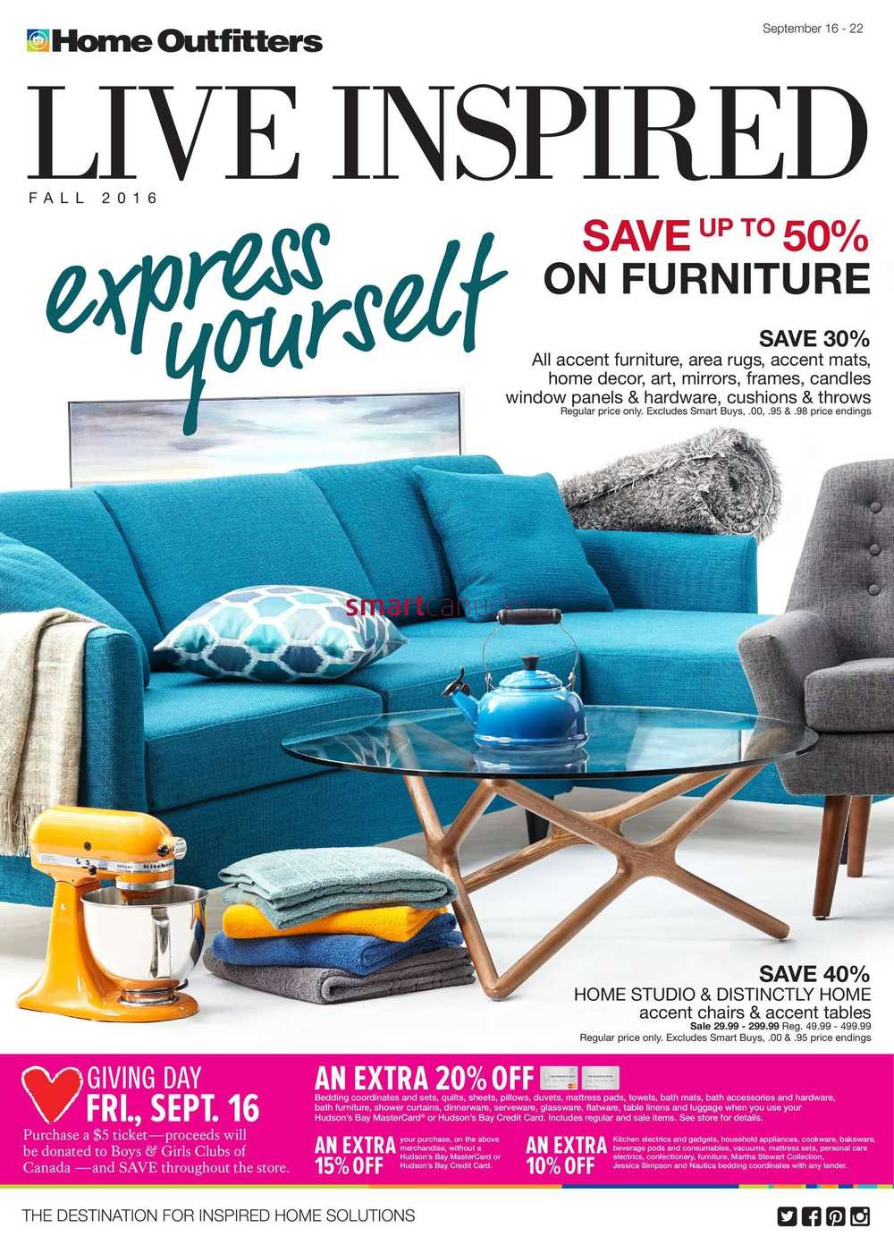 sc 1 st  Smart Canucks & Home Outfitters Flyer September 16 to 22