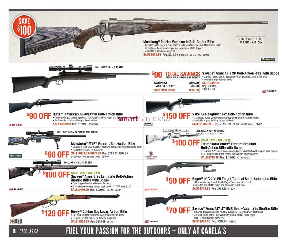 Cabela's Flyer September 22 to October 5