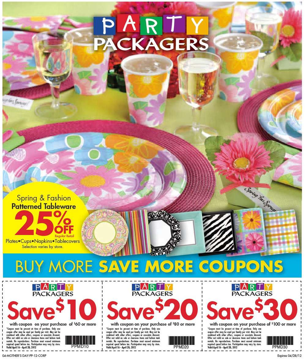 party packagers flyer apr 16 to 28
