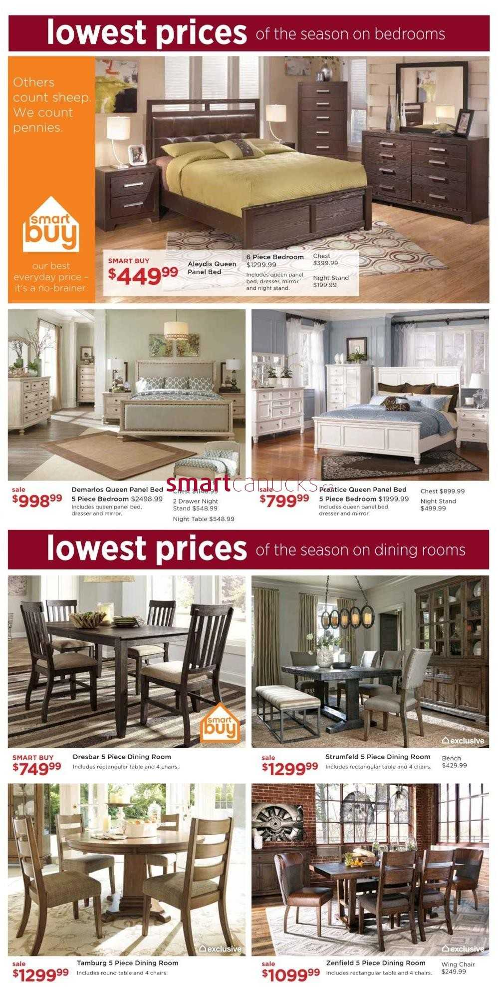 Ashley furniture homestore on flyer september 28 to for Ashley furniture homestore canada