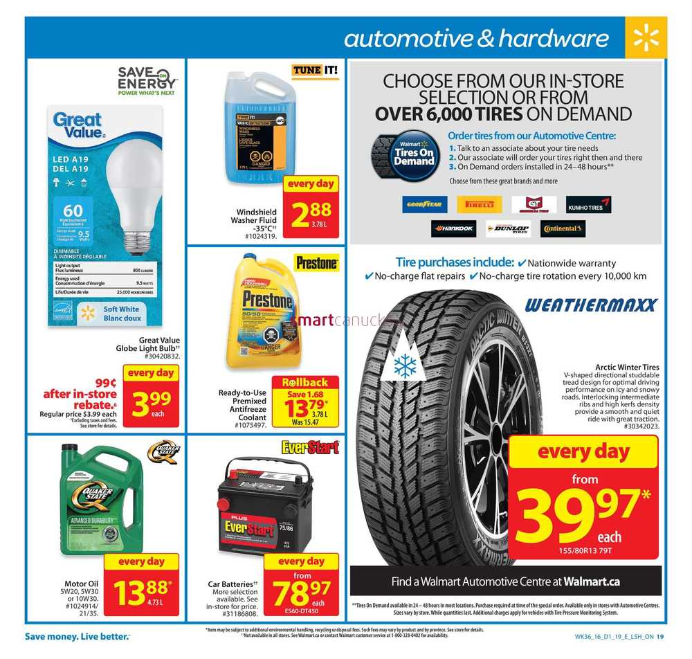 September 2016 Walmart Canada Flyers Coupons Sales