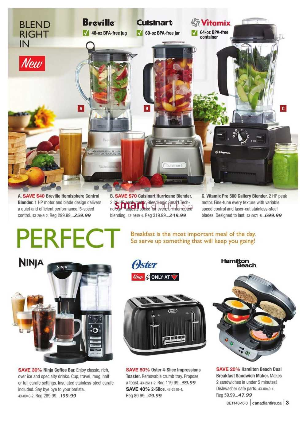 Uncategorized Canadian Tire Kitchen Appliances canadian tire fall catalogue september 30 to october 20 view single