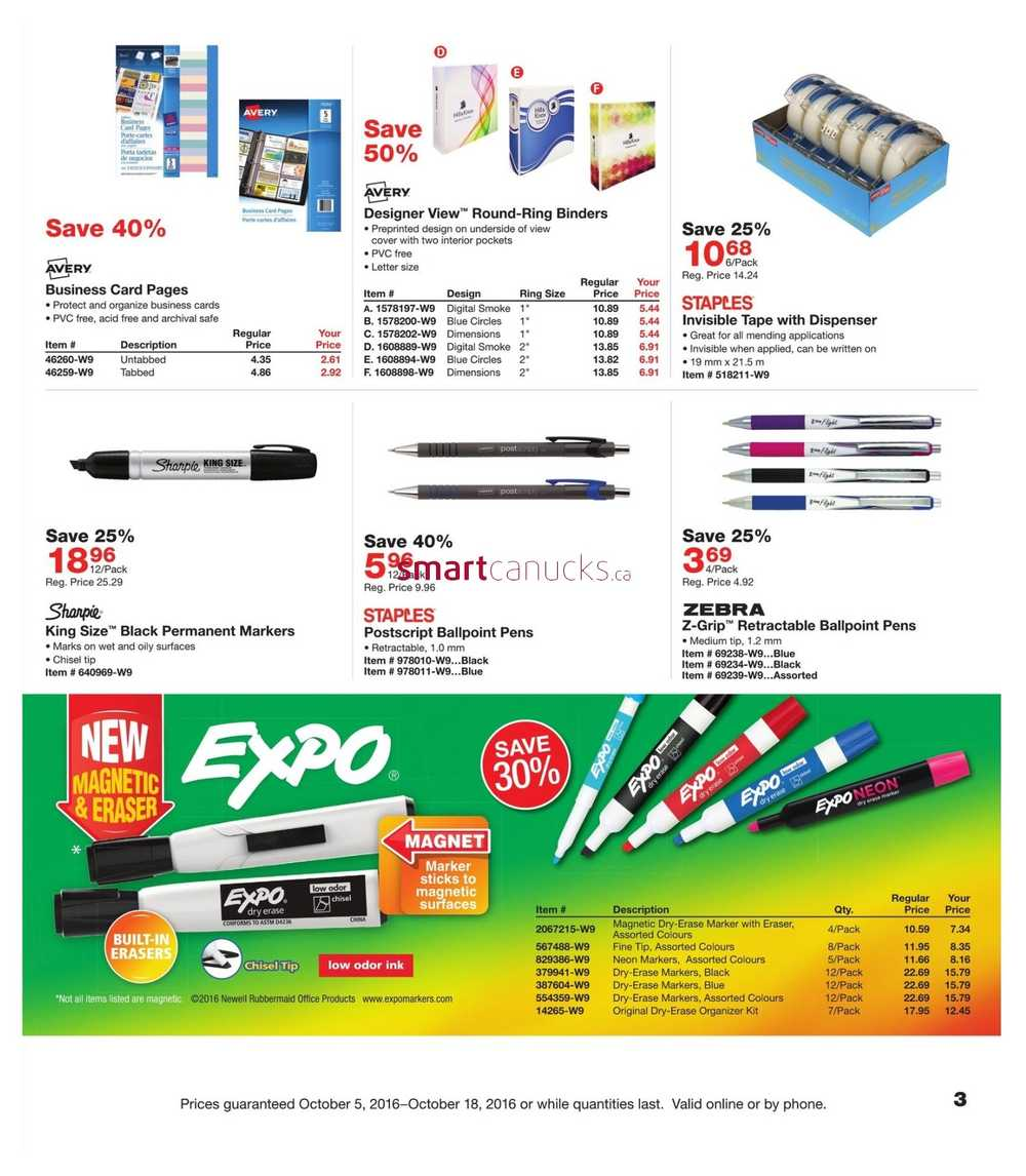 Staples business flyer october 5 to 18 view single reheart Image collections