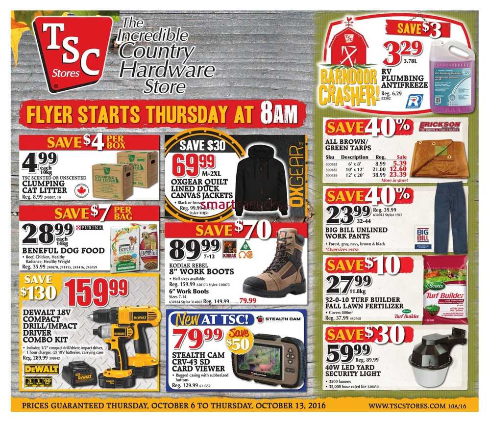 tsc stores flyer october 6 to 13
