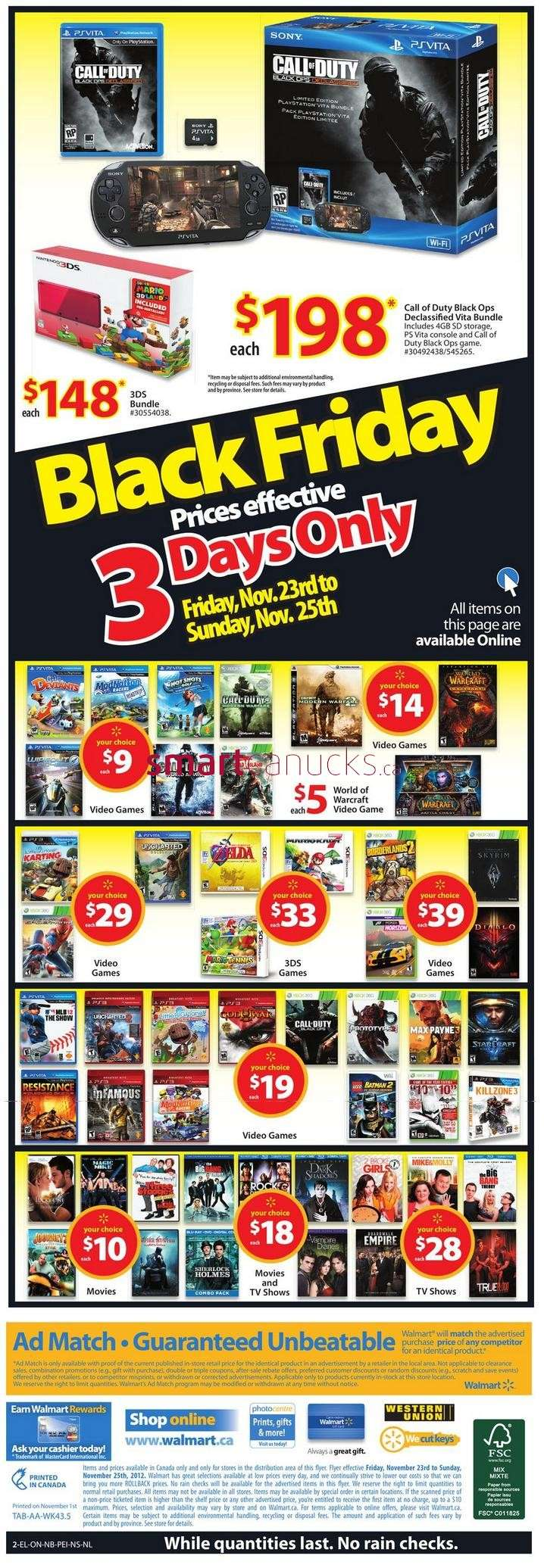 Walmart Canada Black Friday Flyer Sales 2012
