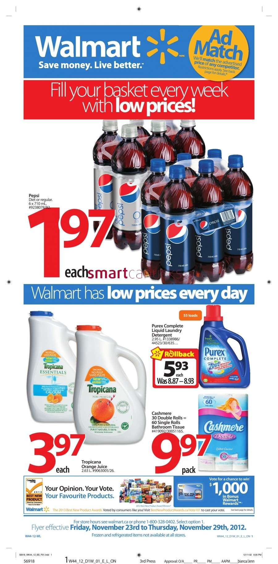 walmarton flyer nov 23 to 291 Walmart Canada Black Friday Flyer Sales 2012
