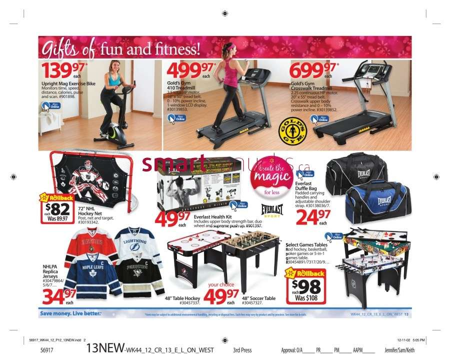 walmarton flyer nov 23 to 2918 Walmart Canada Black Friday Flyer Sales 2012