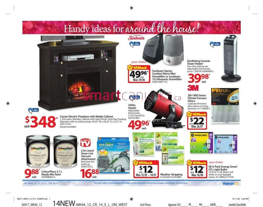 walmarton flyer nov 23 to 2919 Walmart Canada Black Friday Flyer Sales 2012