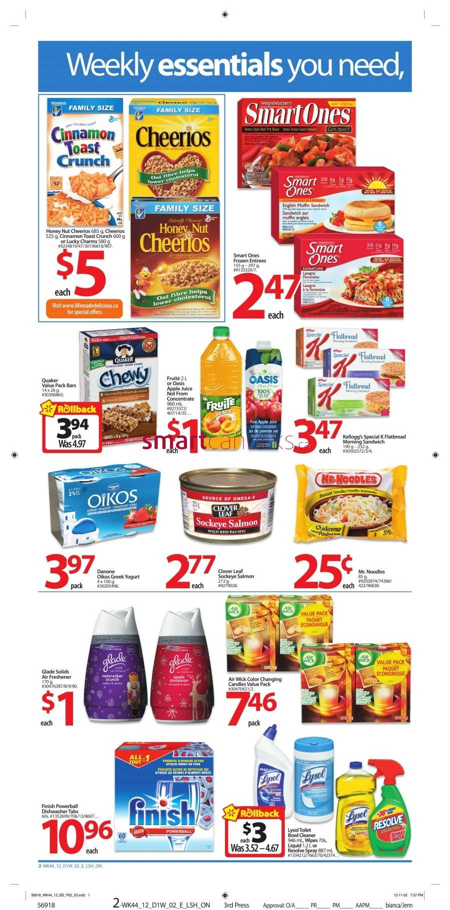 walmarton flyer nov 23 to 292 Walmart Canada Black Friday Flyer Sales 2012