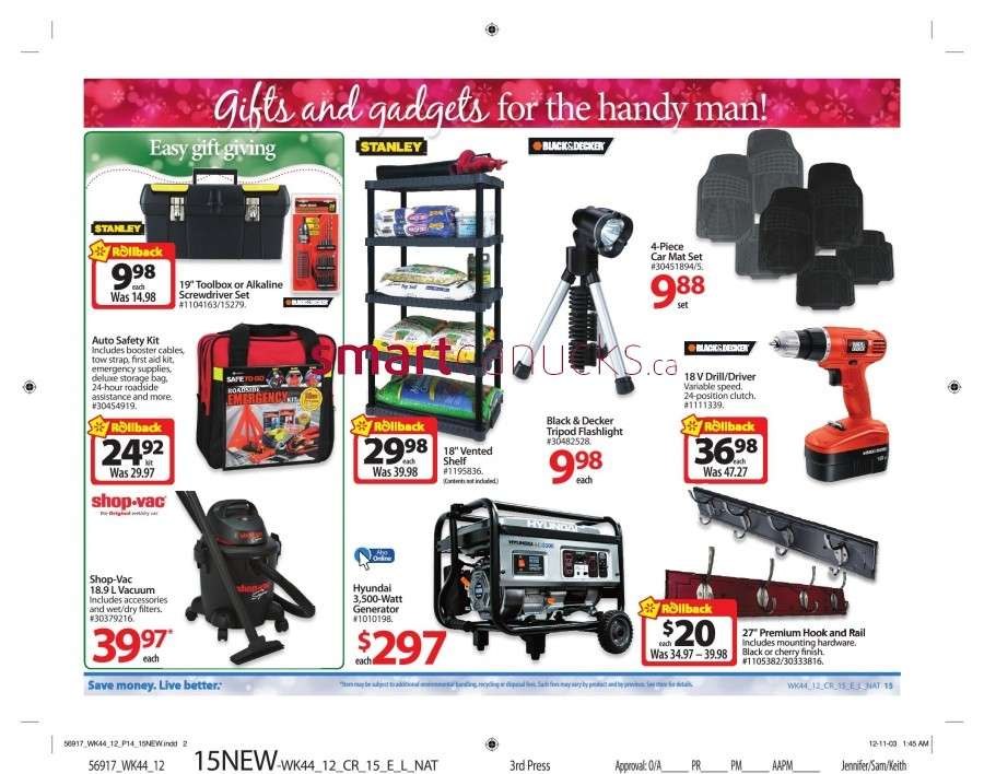 walmarton flyer nov 23 to 2920 Walmart Canada Black Friday Flyer Sales 2012